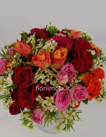 Bouquet rose a grappolo
