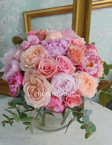 Bouquet misto con rose garden